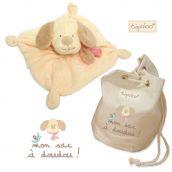 Mon sac à doudou + doudou rose