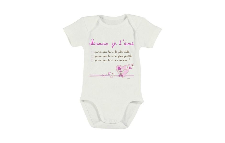 910ebef7ae18e Cadeau fête des mère-Tipoloo Body bébé Maman Rose
